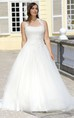 A-Line Long Halter Sleeveless Tulle Court Train  Dress