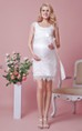 Cap Sleeve Empire Waistline Short Lace Maternity Dress