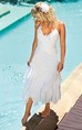 Bohemian Beach Halter Neck Tea Length Chiffon Bridal Gown