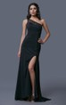 Beautiful and Elegant One Shoulder Gown Sheer Strap Sheer Cut Out Side Regal