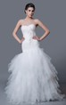 Delicate Sweetheart Tulle Mermaid Dress With Brooch