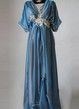 Edwardian Plus Size Blue Handmade In England Lady Mary Inspired Downton Abbey 1912 Gown Gibson Girl Dress