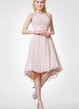Halter Empire High Low Bridesmaid Dress