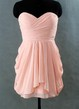 A-line Short Strapless Sweetheart Chiffon Dress