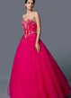 Satin Princess Style Gown With Belted Waist Fitted Bodice Sweetheart Neckline