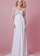 Chic Empire Waist Chiffon Maternity Wedding Dress With Beaded Bodice