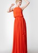 Halter Style Long Chiffon Bridesmaid Dress
