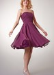Simple Strapless Chiffon Short Dress With Ruching