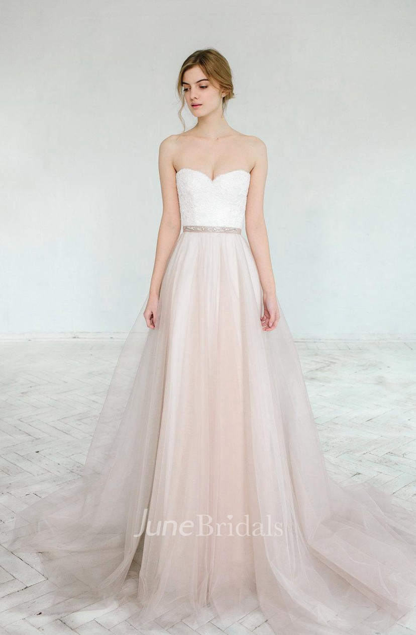 Blush Wedding Gown Dahlia 2 Pieces