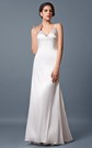 1920's Vintage-inspired 3D Embroidery Queen Anne Neckline Trumpet Gown With Keyhole