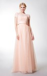 Sweetheart Long Tulle Bridesmaid Dress with jacket